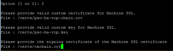 replacing selfsigned external psc certificates with a